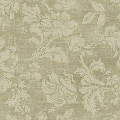 292-80707 Khaki Tonal Jacobean - Fairwinds Studios Wallpaper