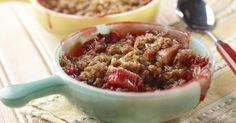 Croustillant à la rhubarbe et fraises   Bien Faire