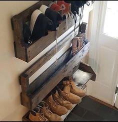 Home Interior Entrance .Home Interior Entrance Wall Shoe Rack, Shoe Rack Closet, Diy Shoe Rack, Shoe Wall, Garage Shoe Rack, Shoe Racks For Closets, Car Garage, Wood Pallet Bar, Wood Pallets