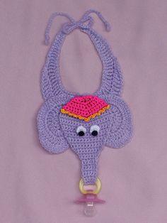 59 Ideas crochet baby bibs pacifier holder for 2019 : 59 Ideas crochet baby bibs pacifier holder for 2019 Crochet Baby Bibs, Crochet Baby Clothes, Crochet For Kids, Crochet Toys, Baby Knitting, Free Knitting, Crochet Pacifier Holder, Baby Patterns, Crochet Patterns