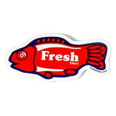 Check out our all new high quality Fresh Elites original stickers. Measuring tall they are the perfect thing to personalize any item. Swedish Fish, Fresh, Stickers, The Originals, Check, Decals