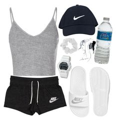"""Untitled #140"" by avital-zaslavski ❤ liked on Polyvore featuring NIKE, Glamorous, G-Shock, Forever 21 and GE"