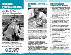 Be prepared! Disaster Supply Check List for You and your Animal Companions.