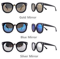 JONTE Retro Oversize Sunglasses Round Frame Metal Point Women Fashion Glasses #JONTE #Round
