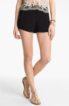 h.i.p. Studded High Waist Shorts (Juniors) available at #Nordstrom