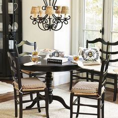 With its smooth, rounded top and deep apron, our Sidney Dining table is the kind of family style table you tend to linger over. Dining Nook, Dining Room Small, Dining, Traditional Dining Room, Table, Home Decor, Round Dining Table, Dining Chair Set, Dining Chairs