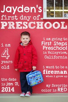 The most adorable first day of school idea