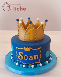 Baby 1st Birthday Cake, Prince Birthday Party, Birthday Cake Toppers, Crown Cake, Tiara Cake, Cupcakes, Mickey And Minnie Cake, Prince Cake, Cake Business