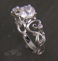 Platinum Calla Lilly Art Nouveau Ring by Joe Worley at Coroflot.com