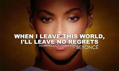 Beyonce- no regrets
