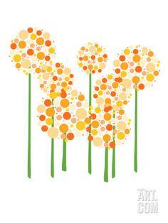 Art.fr - Reproduction d'art 'Orange Alliums' par Avalisa
