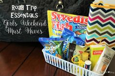Road Trip Essentials - Girls Weekend Must Haves - Wife Mommy Me  With my first ever girls trip just days away, it's time to grab snacks and prep for a trip filled with laughter, memories and best friends. #ad #GetPackin @walmart