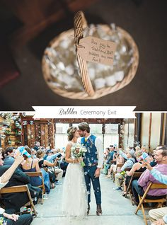11incredibly cute,alternative ideas for your ceremony exit!
