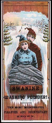 Vintage Trade Card -  Swanine Washing Powder