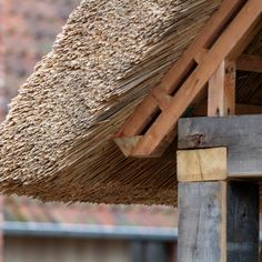 Détail toit de chaume