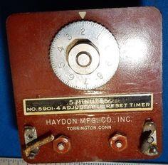 Vintage Haydon Model 5901-4 Adjustable Reset Timer .5minutes
