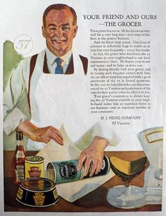 1923 Heinz Foods Ad ~ Your Friend, the Grocer