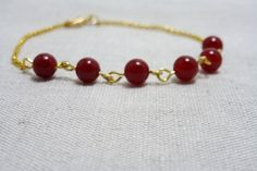 beaded bar bracelet  delicate everyday jewelry by XeSDesign, €6.99