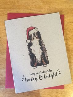 May your days be hairy & bright / Bernese Mountain Dog
