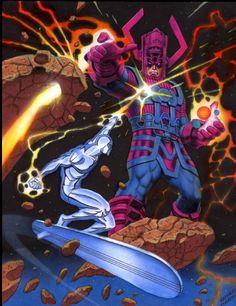 Silver Surfer vs Galactus, por Rich Larson