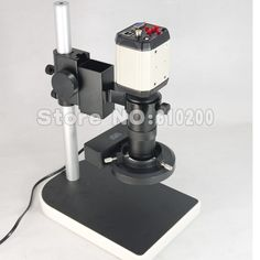 87.99$  Buy now - http://aliqiv.worldwells.pw/go.php?t=2019551237 - 2.0MP 8X-100X HD Industry Microscope Camera VGA USB AV TV Video Output + C-Mount Lens + Stand Holder + Ring Light illuminator 87.99$