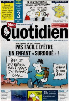 Les tribulations d'un petit Zèbre » Pas facile d'être un enfant « surdoué » (Mon Petit Quotidien, novembre 2011) Kids And Parenting, Jethro, Montessori, Magazine, Adhd, Female Lion, Psychology, Warehouse, Newspaper
