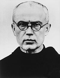 Saint Maximilian Maria Kolbe, O.F.M. Conv., (Polish: Maksymilian Maria Kolbe; 8 January 1894 – 14 August 1941) was a Polish Conventual Franciscan friar, who volunteered to die in place of a stranger in the Nazi German concentration camp of Auschwitz, located in German-occupied Poland during World War II.