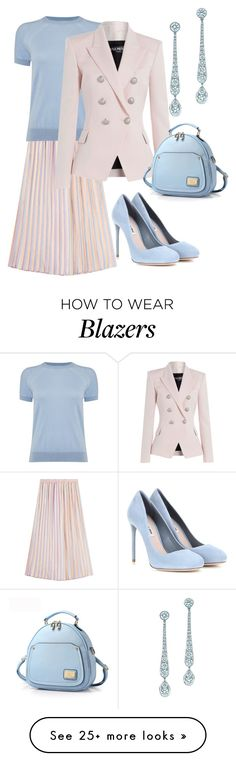 """Off To The Office"" by naviaux on Polyvore featuring Marco de Vincenzo, Michael Kors, Balmain, Tiffany & Co. and Miu Miu"
