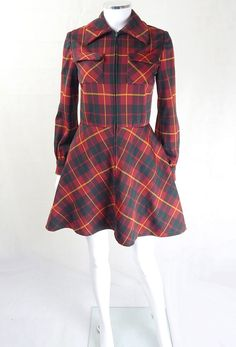 Stand out with original 1970s vintage check dresses from My Vintage - Original Vintage 1970s Check Shirt Dress. 1970s dresses, 1970s dress, vintage dress, 1970s dress, vintage dresses