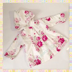 Floral Hooded Jacket with fleece lining