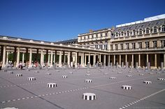 The Palais Royal is a palace built by Cardinal Richelieu in 1629. King Louis XIV - later known as the Sun King - spent his youth in this palace before moving to the Louvre. The central courtyard and garden can be visited free of charge.