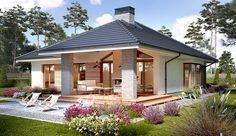Bungalow House Plans, Small House Plans, Beautiful House Plans, Beautiful Homes, Kerala Houses, Modern Farmhouse Exterior, House With Porch, New Homeowner, Modern Kitchen Design