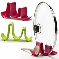 Spoon Rest Holder Pot/pan Lid Stand Rack Klipy Design