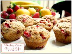Sweet Little Bluebird: Tried & True Tuesday ~ Strawberry Lemon Banana Muffins