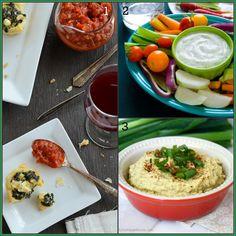 25-tapas-recipes on Healthy Seasonal Recipes | healthy Spanakopita, low fat ranch dip, healthy artichoke dip