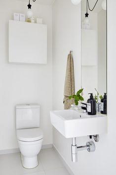 Bathroom Vanity Units, Diy Bathroom, Bathroom Inspo, Modern Bathroom, Small Bathroom, Small Downstairs Toilet, Guest Toilet, Downstairs Bathroom, Minimalist Room