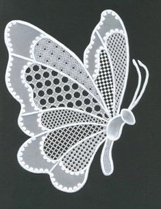 Lace butterfly by Nelly Torn. My first contribution in Parchment Craft Magazine of September 2014