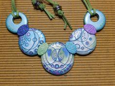 MokumeGane Bubble Necklace tutorial by Julie Picarello #Polymer #Clay #Tutorials