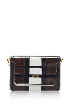 Tri Colored Water Snake Shoulder Bag by MARNI for Preorder on Moda Operandi