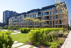 The residential buildings Fulham Wharf - Sainsburys in London (Great Britain) / Budynki mieszkalne Fulham Wharf - Sainsburys w Londynie (Wielka Brytania).