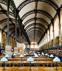 The St. Genevive Library by Henri Labrouste