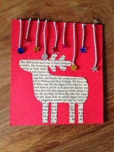 tarjeta de navidad hecha a mano
