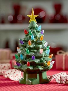 Small Ceramic Christmas Tree | Indoor Holiday Décor