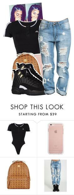 """Untitled #1410"" by toniiiiiiiiiiiiiii ❤ liked on Polyvore featuring Poetic Justice, adidas and MCM"
