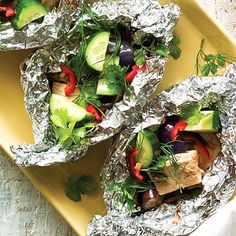 Tofu and Eggplant Packets | 17 Fresh And Healthy Recipes You Can Make In A Foil Packet
