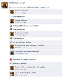 God's FB status