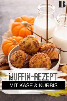Kürbis-Muffins Rezept. Nicht nur süß schmecken Muffins lecker, wie diese herzhafte Variante mit Käse und Kürbis beweist. Sie sind schnell gemacht und schmecken warm und kalt. #fingerfood #muffins #kürbis #käse Breakfast, Delicious Snacks, Finger Food, Small Cake, Delicious Dishes, Morning Coffee