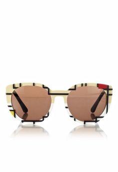 Mondrian Cat Eye Sunglasses, Cutler and Gross