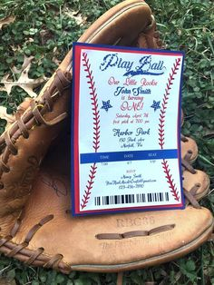 Items similar to Baseball Birthday Party Invitation, Baseball Birthday Party, Baseball Invitation, Baseball Party Invitation, Baseball Birthday on Etsy Themed Parties, Party Themes, Baseball Party Invitations, Harbor Park, Baseball Birthday Party, Handmade Gifts, Etsy, Kid Craft Gifts, Theme Parties