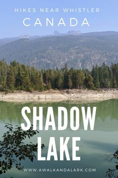 Shadow Lake Loop is an easy (mushroom filled) walk along the Sea to Sky trail between Squamish and Whistler. It has incredible views over to Black Tusk.
